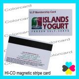 Hi-Co personnalisé carte en plastique à bande magnétique