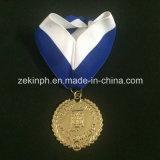 Medallas/medallones de encargo con los acolladores para la concesión de la competición