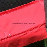 trampolino rosso rotondo di 15FT con 6 piedini ed allegati di sicurezza