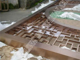 Het Scherm /Hotel, KTV, Woonkamer van het Roestvrij staal van de Kleur van Bronse