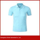 Camisa de polo feita sob encomenda do algodão da promoção do bordado da cor-de-rosa do Mens (P120)