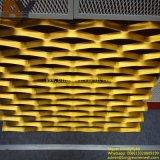 Polvo ampliadas cubiertas de malla metálica perforada del acoplamiento de alambre