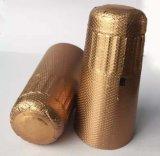 Cápsulas de oro vendedoras calientes de la botella de vino de la tapa de Champán del papel de aluminio