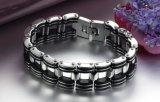 De Juwelen van het Roestvrij staal van de Armbanden van de Armbanden van de Ketting van de Motorfiets van de Link van de Ketting van de Fiets van de Motor van de Mensen van uitstekende kwaliteit 316L met Silicone