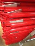 赤い塗られた表面の終わりを用いるRinglockの足場