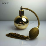 frasco de perfume dourado do vintage 100ml com pulverizadores de Pumb
