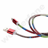 Горячий продавая кабель данным по USB TPE кожаный поручая для Android/Ios