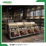 Almacén de madera de doble cara, bastidores de vino