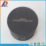 Cadre de empaquetage de papier exquis noir Shaped rond de produit de beauté/parfum