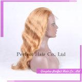 100% cabelo humano peruca cheia do laço
