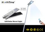 Réverbères solaires monocristallins du panneau DEL de silicium avec le téléphone $$etAPP de détecteur de mouvement