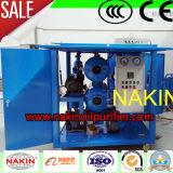 Tipo móvil de vacío de aceite del transformador purificador con remolque (6000L / H)