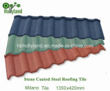 Blad van het Dak van het Metaal van de Kleur van de baksteen het Steen Met een laag bedekte (de Tegel van Milaan)