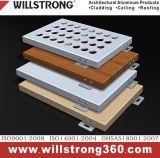 Finissage en bois de panneau composé en aluminium pour le revêtement