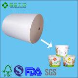 Einzelnes seitliches PET überzogenes Papier für Nudel-Filterglocke