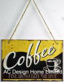 Café fresco Diseño de impresión de relieve la decoración de pared de una placa de metal