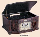 Giradisette a 3 velocità/USB/scheda SD/CD MP3/radio AM/FM (USB-808)