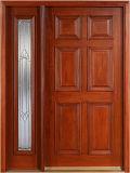 Porte en bois d'acajou (KMG04) (portes en bois solides)
