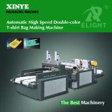 Automatischer Hochgeschwindigkeitsc$doppelt-farbe Shirt-Beutel, der Maschine herstellt