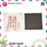 Hecho en la etiqueta engomada llana material de los imanes del refrigerador del papel de China para diversos países