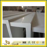 De witte Kunstmatige Bovenkant & Countertop van de Ijdelheid van het Kwarts voor Keuken & Bad (YYS)