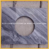 Het natuurlijke Opgepoetste Witte/Zwarte Houten Marmer van de Steen voor Bevloering/Countertop/het Bedekken/Muur