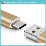 Золотой нейлоновой оплеткой USB a на USB-кабель типа C зарядное устройство для Android устройств