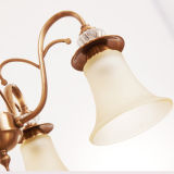 Illuminazione Pendant dei lampadari a bracci moderni dell'hotel da vendere con paralume di vetro per l'appartamento