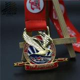 Античная бронзовая мягкая эмаль резвится изготовленный на заказ трофей и медали