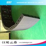 P5mm 자석 모듈을%s 가진 실내 풀 컬러 구부려진 발광 다이오드 표시