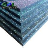 Mattonelle di gomma della stuoia del pavimento di ginnastica ad alta densità durevole del Ce