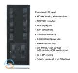 46 Inch-Innenfußboden, der LCD bekanntmacht Kiosk (MW-4601FSP, steht)
