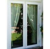 De Europese Standaard Witte Deur van het Glas van de Gordijnstof van het Balkon van het Aluminium met de Grill van de Decoratie (acd-026)