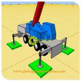 Plataforma de perfuração de petróleo Mats 50mm de espessura das pastilhas do Macaco Escora do suporte da grua