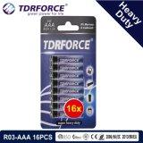 trockene Hochleistungsbatterie 1.5V mit BSCI für Taschenlampe (R03-AAA 16PCS)