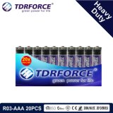 1.5V China Fabrik-Zink-Kohlenstoff-Batterie-Großhandelspreis (R03-AAA 48PCS)