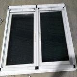 Flügelfenster-Fenster des Bau-materielles weißes Profil-UPVC mit Fliegen-Netz
