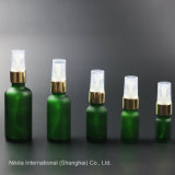 Bottiglia di olio glassata di vetro verde con la pompa dello spruzzo, bottiglia del contagoccia (NBG25B)