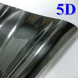 Ultrawrap 1,52 x20m Bubble Free 5D'autocollant de vinyle en fibre de carbone brillant