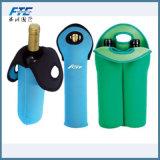 Dispositivo di raffreddamento della bottiglia del sacchetto del dispositivo di raffreddamento di vino della bottiglia del neoprene due