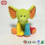 Le multiple se reposant colore le jouet mou fait sur commande gentil à croquer d'éléphant de peluche