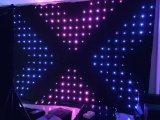2m de altura x 3m de ancho P18cm cortina de la visión de tela telón de fondo para DJ