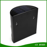 Retro Courtyard Solar Power 6 LED Outdoor Wall Garden Light Economia de energia Solar Yard Lamp for Path