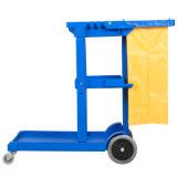 Chariot de chariot au nettoyage du portier de plastique d'hôtel