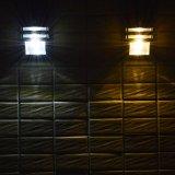 Im Freien 2 bewegungs-Fühler-Lampen-Garten-Licht LED-120lm PIR Solarfür Wand-Bahn-Balkon-Portal-Zaun imprägniern