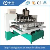 Машина маршрутизатора CNC 4 головок оси 8 деревянная работая
