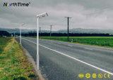 120 ângulo do feixe do sensor de movimento automático da lâmpada de Rua solar integrada