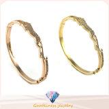 Nuovo braccialetto del metallo dei braccialetti del braccialetto dell'argento di fascino dell'oro di modo per i braccialetti G41343 del braccialetto dei regali dei monili degli uomini delle donne