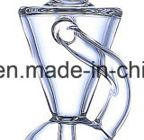 10 Zoll-Trichter Shap Glaswasser-Rohr-Pfeife
