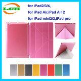 Caisse sèche de tablette de cuir multi gluant de cornière pour l'iPad
